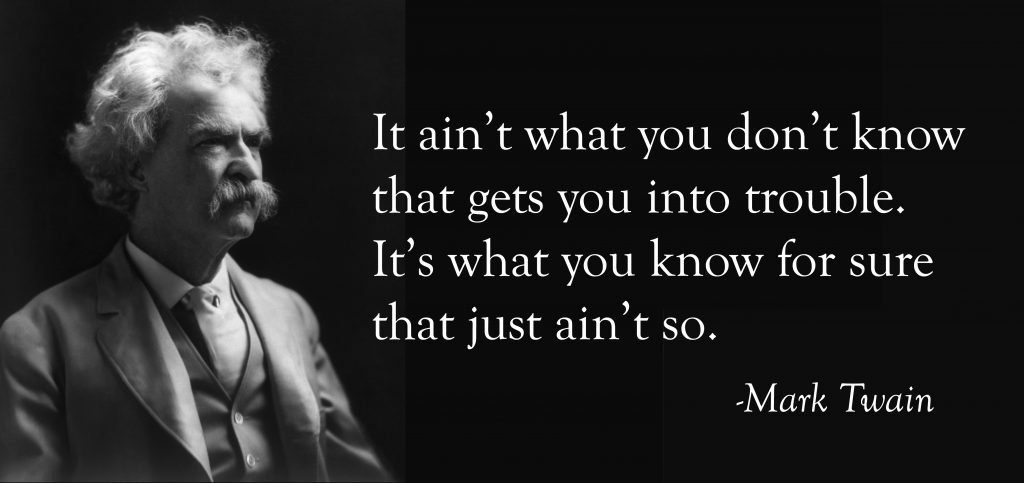 image of mark twain with quote
